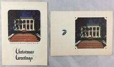 Lot of 2 c1970 Christmas Cards 40th Governor of Texas Preston Smith Austin TX