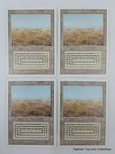 Mtg Scrubland x4 Revised 3rd Edition Dual Lands Magic the Gathering EX/NM (1VG)