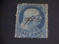 U.S. Stamp Scott #18 (verified genuine) blue 1857-1861 Rare!!