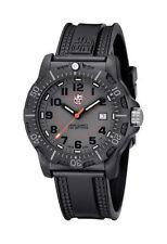Runde Armbanduhren aus Silikon/Gummi in Grau