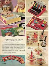 1969 Christmas Catalog page only Mattel Blippy Music Box Snoopy Peanuts Getar