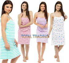 Ladies Cotton Chemise Thin Strap Nightie Pyjamas Sleep Nightshirt Wear Night