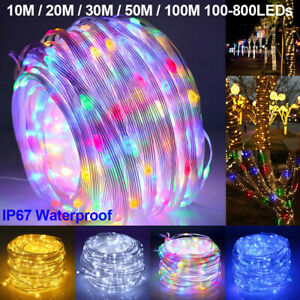 100-800LEDs Mains String Fairy String Lights Waterproof Outdoor Christmas Party