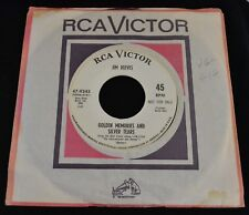 Jim Reeves RCA PROMO 9343 I Heard a Heart Break Last Night and Golden Memories