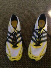 NEW adidas Performance Adizero Finesse Track Shoe- White/yellow black sz 12.5