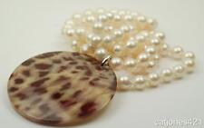 14K WHITE GOLD PEARL PENDANT & 14K CULTURED PEARL NECKLACE