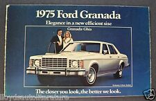 1975 Ford Granada Sales Brochure Folder Ghia Nice Original 75