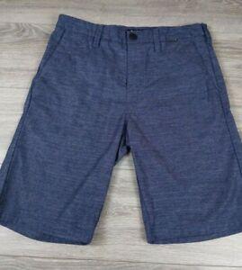 Hurley x Nike Dri Fit Flat Front Shorts Mens Sz 29 Navy Blue Chino Bermuda EUC
