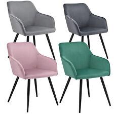 Esszimmerstühle Küchenstuhl Polsterstuhl Samt mit Armlehne Design Stuhl ArtLife®