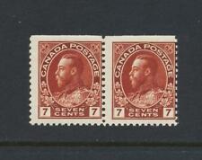 CANADA 1924, 7c PAIR VF NH SG#114 Sc#251 CAT$110 (SEE BELOW)