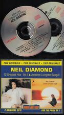 NEIL DIAMOND Two Originals Greatest Hits VolII & Jonathan Livingston Seagull 2CD