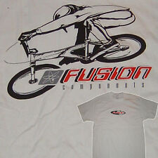 Fusion - BMX T-shirt - Blanc - VINTAGE OLD SCHOOL Maillot - Taille Large