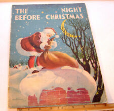The Night Beforechristmas~Copyright 1932~Whitman Publishing~Large Softcover Book