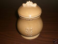 Arte Italica Brown Ceramic Decorative Cannister Imprft