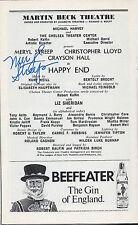 Meryl Streep signed Happy End Playbill Rare. Vintage 1977 - Mamma Mia, The Post