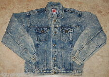 Womens Jean Jacket STONE WASHED Blue Denim XL 18-20 CANYON RIVER BLUES