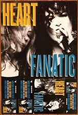HEART Fanatic Ltd Ed Discontinued RARE New Poster +FREE Pop/Rock Poster!