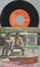 "7"" ZAGER & EVANS-- LISTEN TO THE PEOPLE"