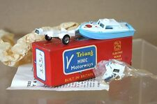 TRIANG HORNBY MINIC MOTORWAY M1555 SPEED BOAT & TRAILER NEW BOXED pi