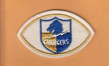1960's AFL SAN DIEGO CHARGERS FOOTBALL SHAPE LOGO PATCH L A UNUSED STOCK