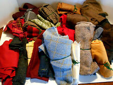 Large lot of wool, wool blend scraps quilting felting penny work crafts