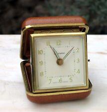 Pendulette Reveil de voyage Bayard ancien vintage alarm clock Fonctionne
