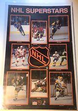 """Original Vintage Poster """"NHL Superstars"""" 1988"""