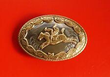 VTG German Silver Western Cowboy  Belt Buckle