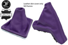PURPLE TOP GRAIN REAL LEATHER GAITER SET FOR VAUXHALL OPEL ASTRA MK5 H 2004-2009