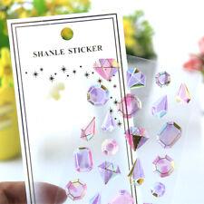 1x Crystal Jewel Stickers Decor Stationery Scrapbooking Craft DIY Phone Decor 3D