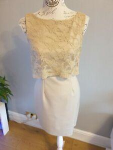 Closet Lace Top Pencil Dress thick stretch  Size 12  RRP 50.00 VGC