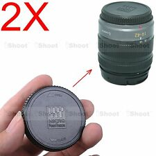 2x Kamera Rück Objektiv Deckel f Olympus Panasonic Lumix Micro Four Thirds Lens