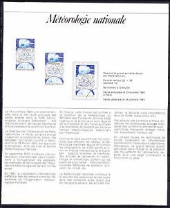 documents philatéliques 2 + chacun 1 timbre neuf - 1 timbre oblitéré année 83-88