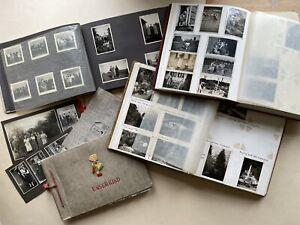 vier alte Foto Alben Album ca. 1910-1960 Nachlass Familie Deutschland