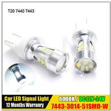 2X T20 7443 W21/5W 3014 51SMD Canbus No Error LED Car Turn Signal Parking Bulb