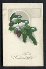 Posted 1929 in Germany Greeting Card: Pine Cone