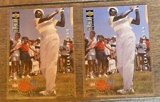 2x Michael Jordan 1994-95 Upper Deck Collectors Choice Pro Files Golf Card #204