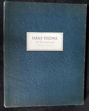 Hans Thoma 10 Zeichnungen  Kurt  Martin 1946 Limitierte Auflage