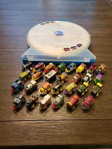 Thomas The Train 28 Minis Lot With Round Train Case Rare