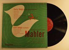 mahler lp early songs / last songs  vrs 421 felix prohaska  vg+/vg++