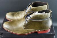 Cole Haan Air Colton Leather Chukka Boots Shoes Dark Olive Size UK 8.5 EU 43 OG