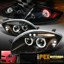 06-11 Mitsubishi Eclipse Halo Projector Black Headlights + Bright LED Tail Light