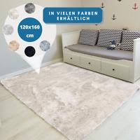 Teppich Hochflor 120x160 Shaggy Flokati Langflor Fußmatte Läufer Weich 6 Farben