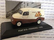 VOITURE PUBLICITAIRE ITALIE FIAT 615 FERRERO 1952  IXO 1/43EME  ALTAYA
