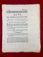 Castres en 1792 Alexandre Vigier Tarn signé Junot Révolution Française Dijon