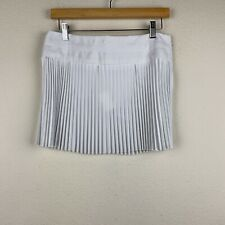USA MADE - COSTA BLANCA Off-White Pleated TENNIS Mini Skirt