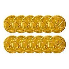 144x pièces d'or pirate en plastique trésor partie / butin Sac Pinata (12 sacs de 12) UK