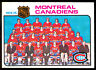 1975-76 OPC O PEE CHEE #90 MONTREAL CANADIENS TEAM CARD NM UNMARKED W KEN DRYDEN
