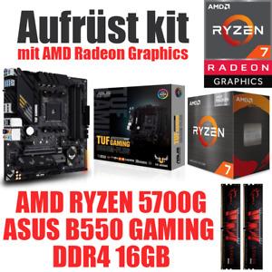 AMD Ryzen 7 5700G mit Graphics ● ASUS Mainboard ● 16GB RAM ● PC Bundle Set Kit