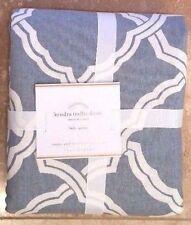 POTTERY BARN ~ KENDRA TRELLIS FULL / QUEEN DUVET IN BLUE NEW BEDDING